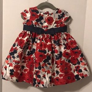 Janie and Jack Silk Floral Dress